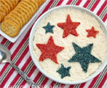 Patriotic Crackers and Dip for July 4th