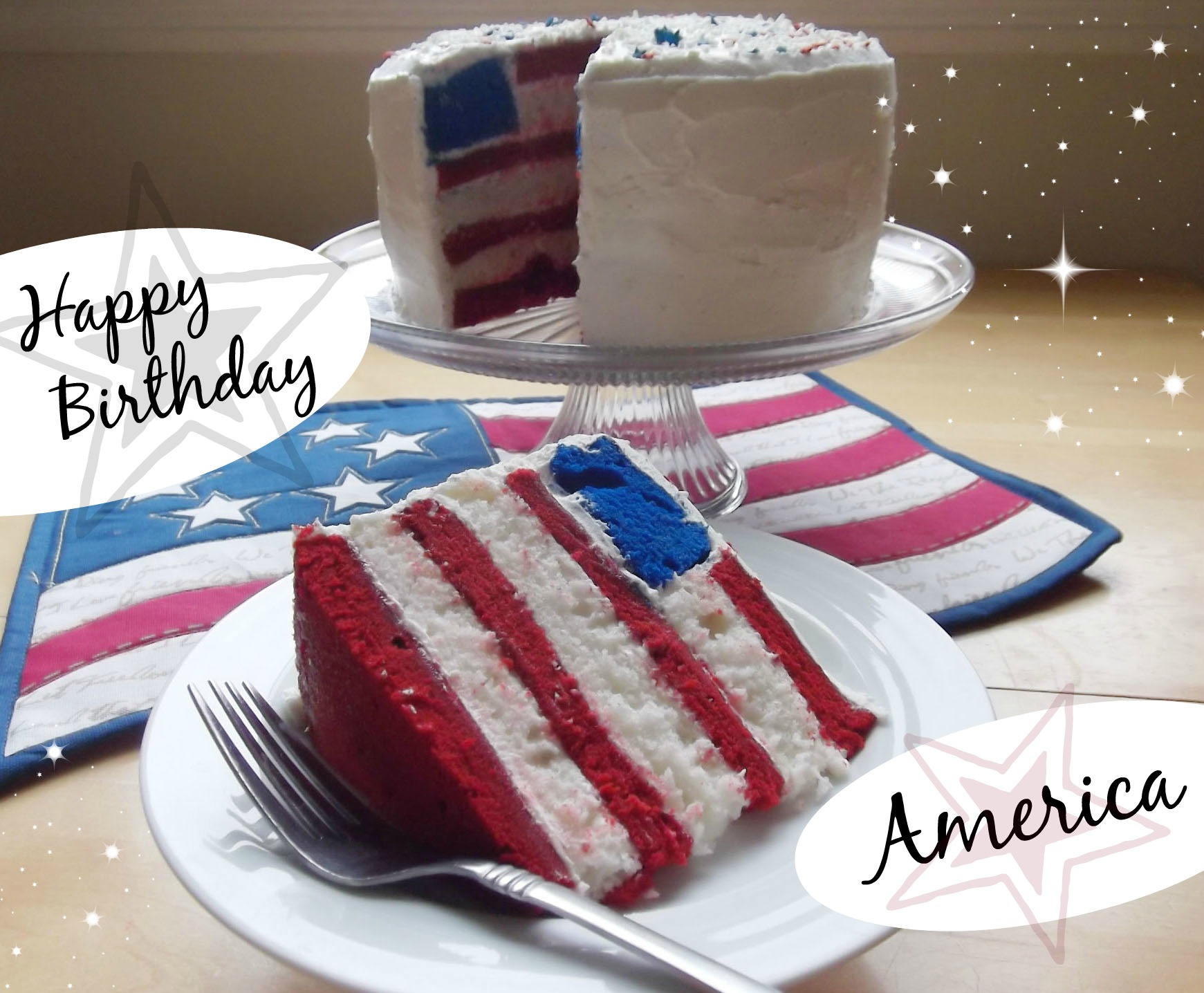 Happy Birthday American Flag Cake Recipe Celebrating Holidays