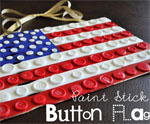 DIY Paint Stick Flag for July 4th