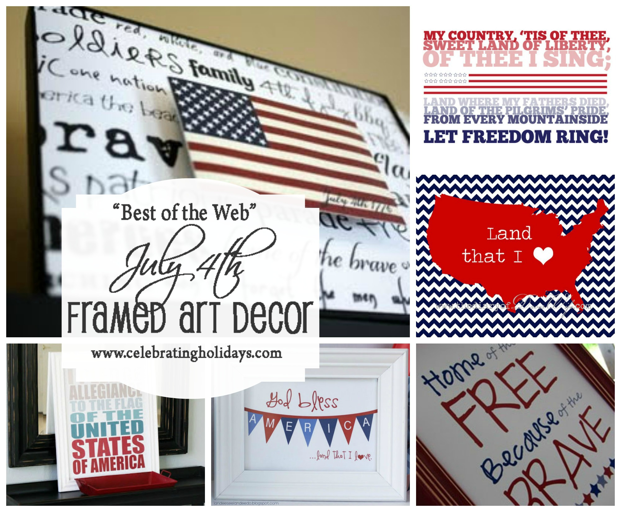 Best July 4th DIY Framed Art Decor Ideas (Free Printables!)