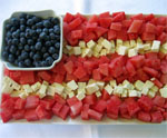 Fruit and Cheese Flag for July 4th