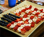 Fruit Flag Kabobs for July 4th
