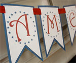 American Free Printable Garland for July 4th