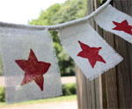 Burlap Star Garland for 4th of July