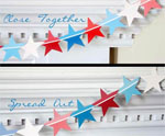 Paint Chip Star Garland for July 4th