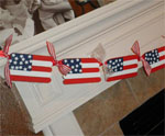 Popsicle Stick Flag Garland
