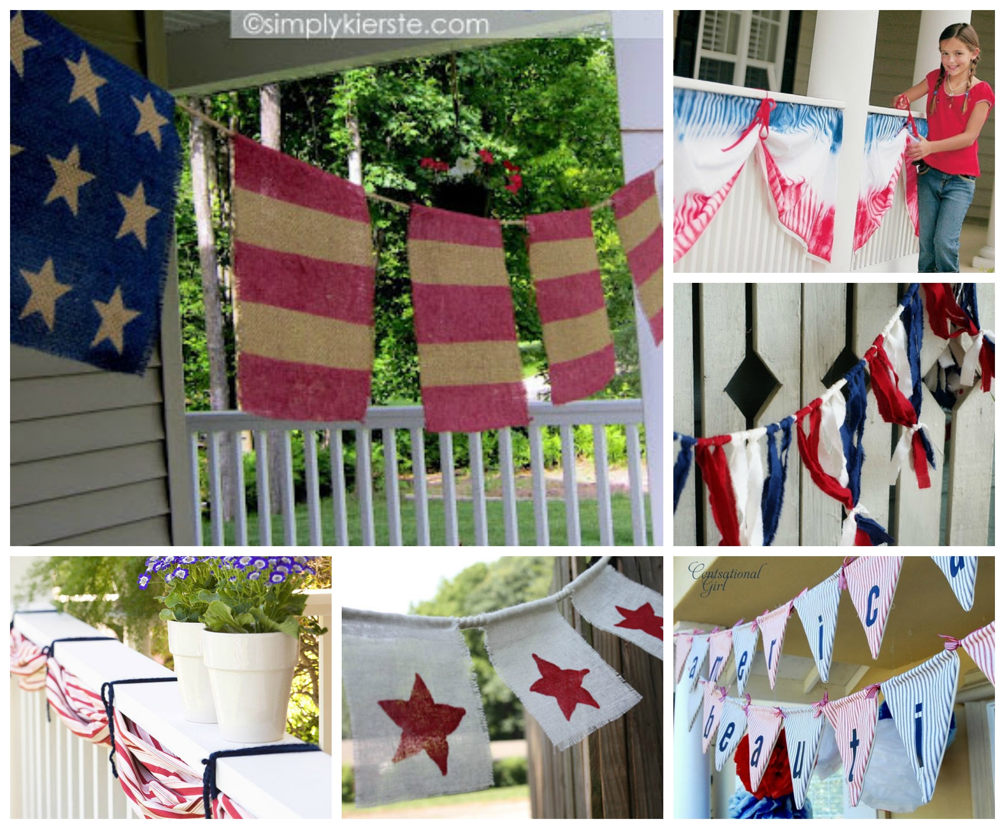July 4th DIY Garland Decorating