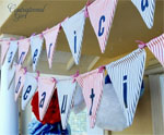 DIY Sewed Fabric Garland for July 4th