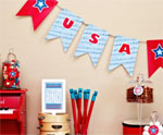 USA Garland 2 for July 4th
