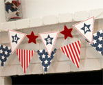 USA Garland 1 for July 4th