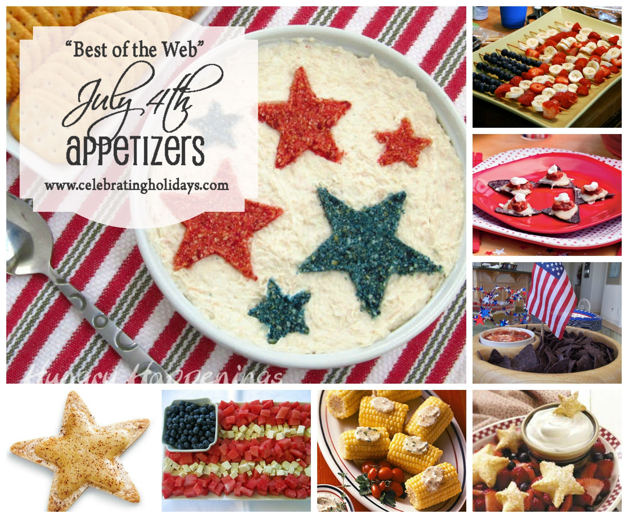 Best of the Web July 4th Appetizer Ideas