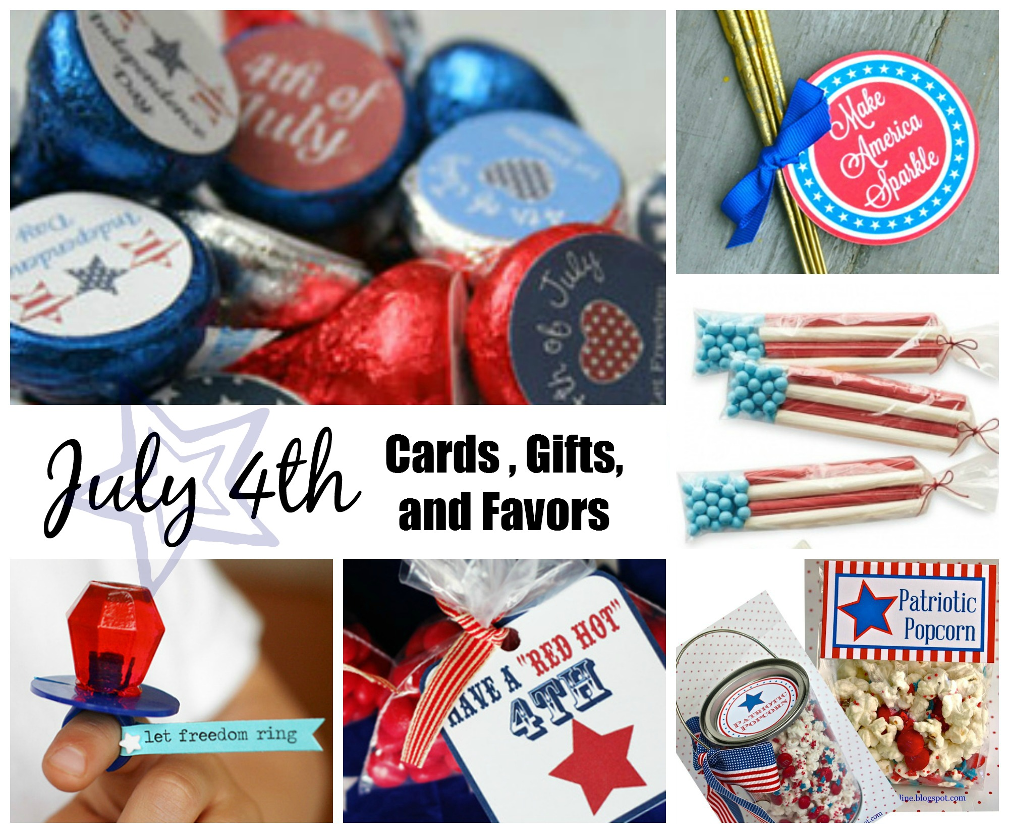 July 4th Card, Gift, and Favor Ideas