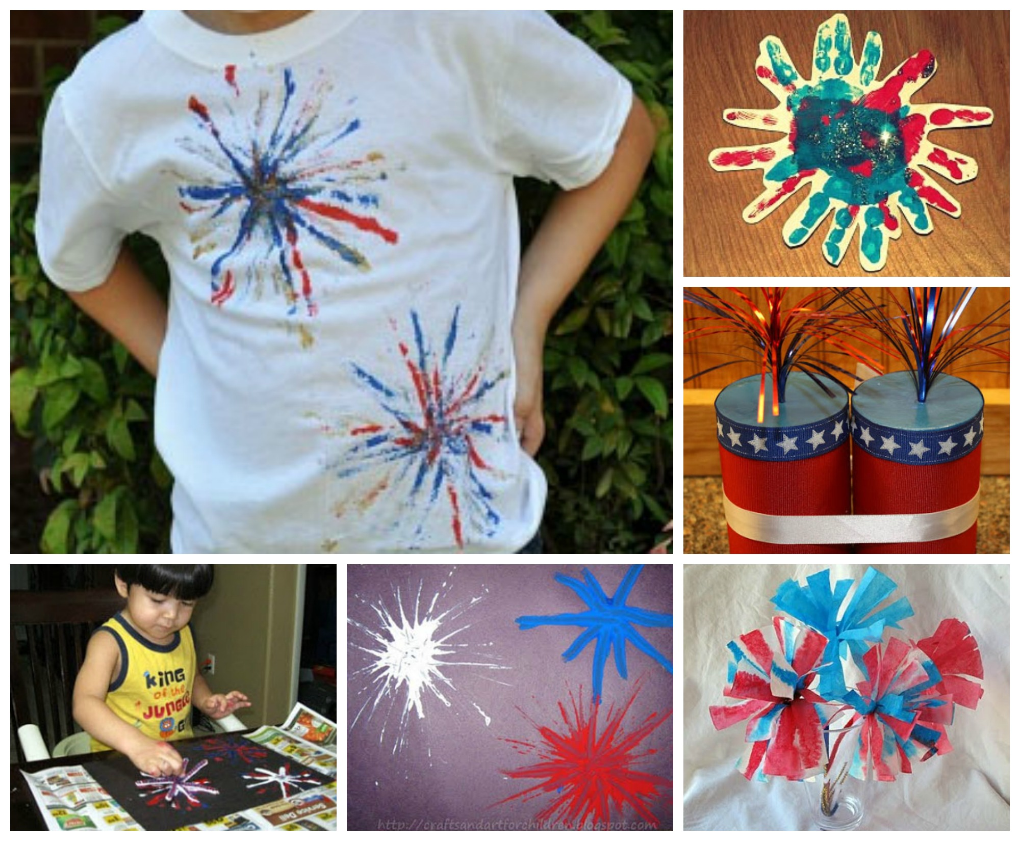 July 4th Firework and Rocket Crafts