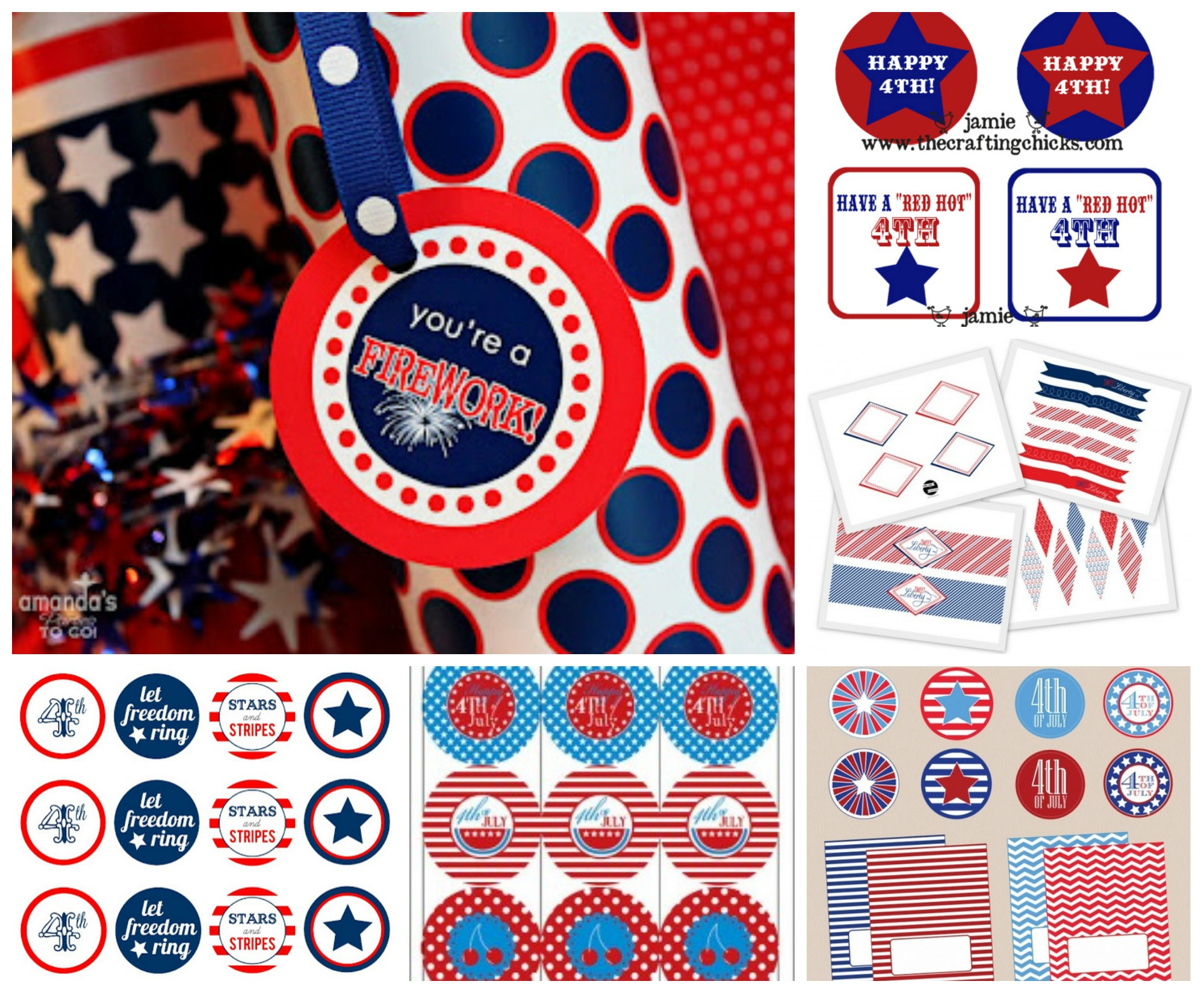 July 4th Free Printable Gift Tags