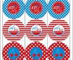 July 4th Free Printable Gift Tags 1