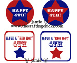 July 4th Free Printable Gift Tags 2