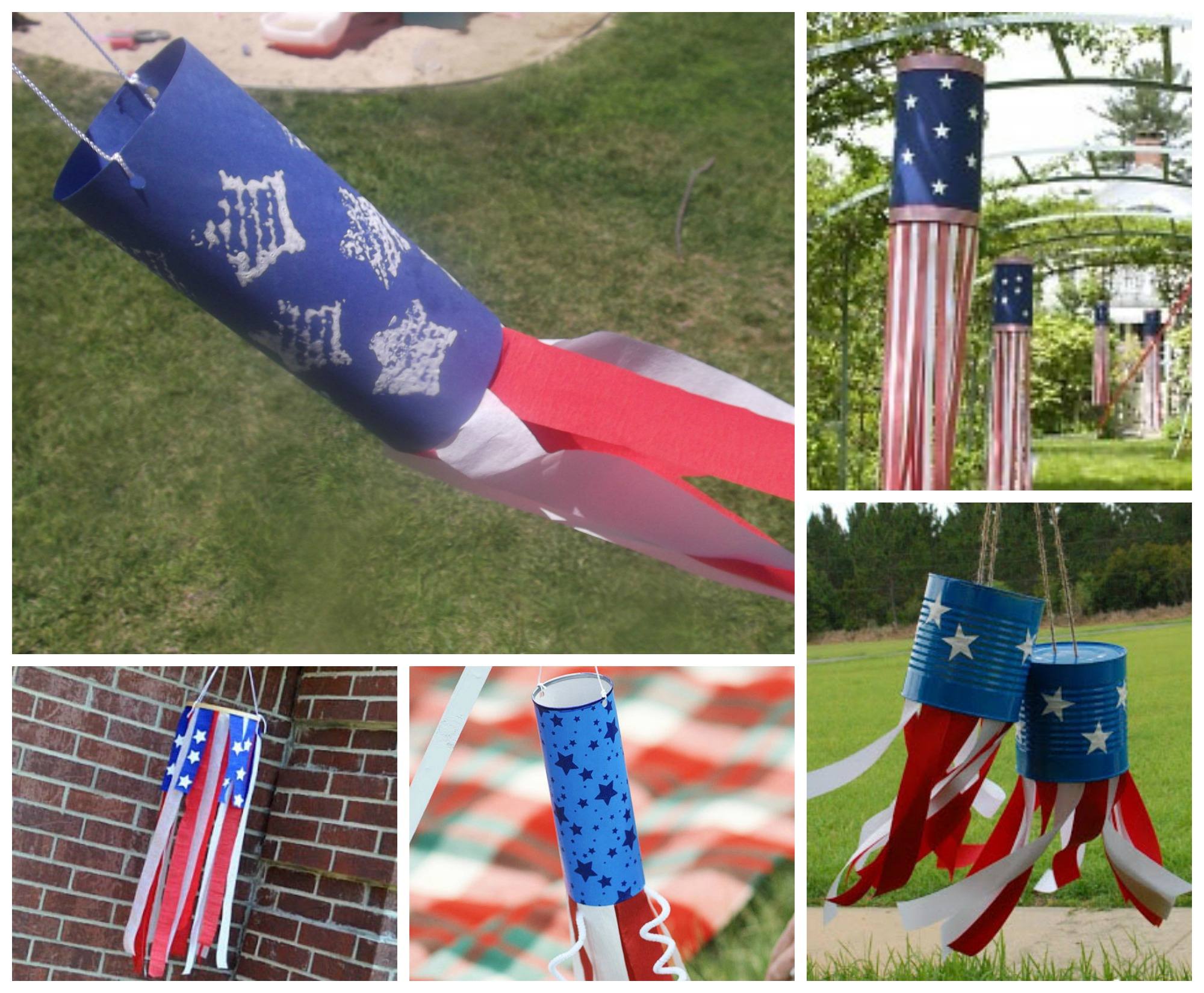 July 4th Windsock Crafts