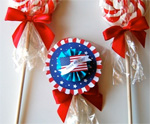 Patriotic Lollipops