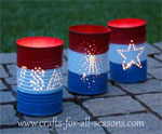 Tin Can Luminaries for July 4th