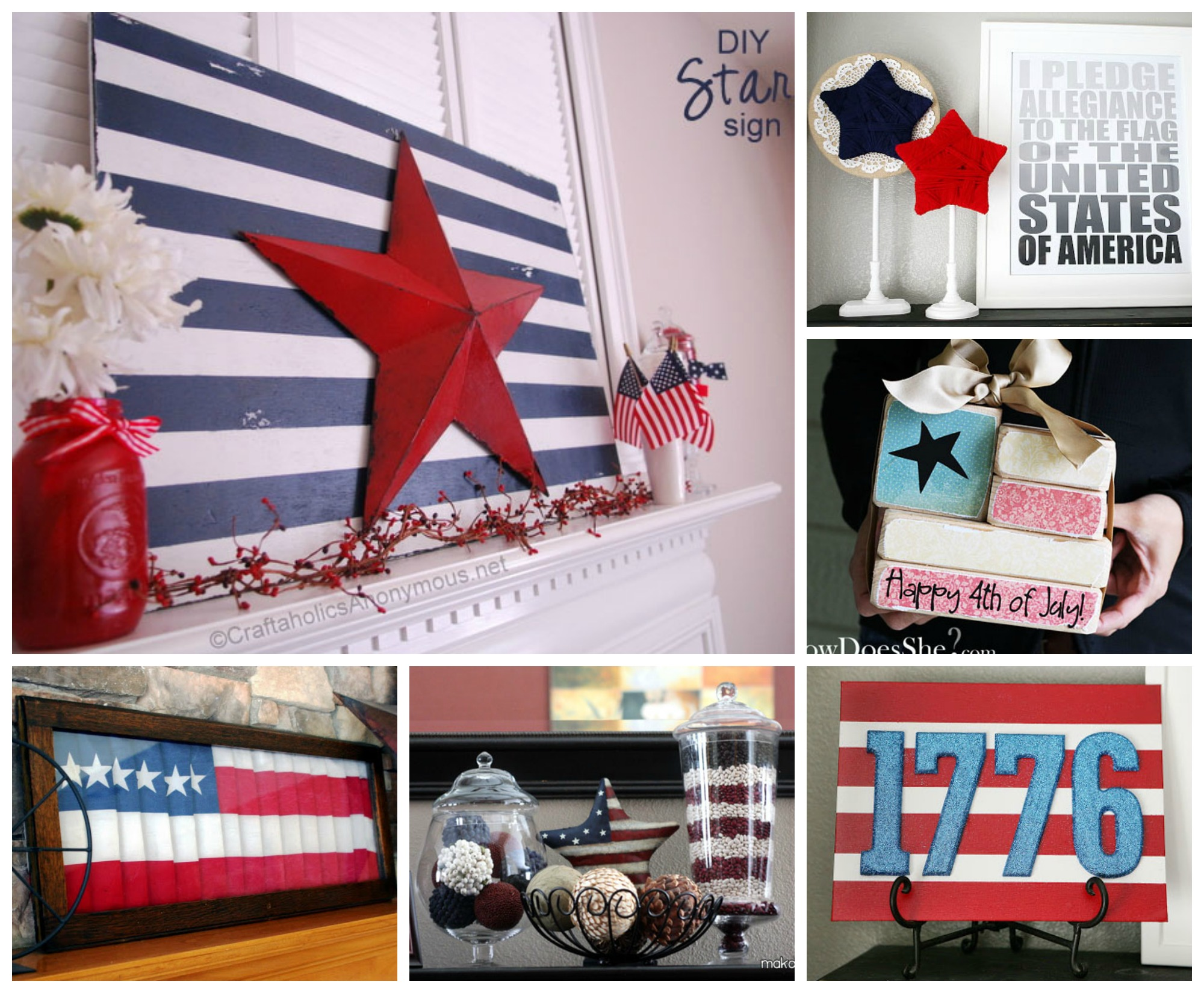 July 4th DIY Mantle Decorating