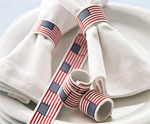 DIY Flag Napkin Ring for July 4th