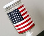 DIY Patriotic Pickle Jar