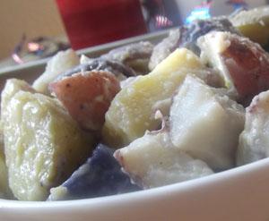 Patriotic Potato Salad Recipe | Celebrating Holidays