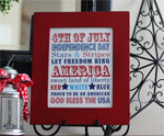 4th of July Free Printable Subway Art