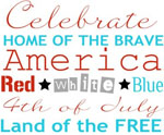 Celebrate Free Printable Subway Art for July 4th