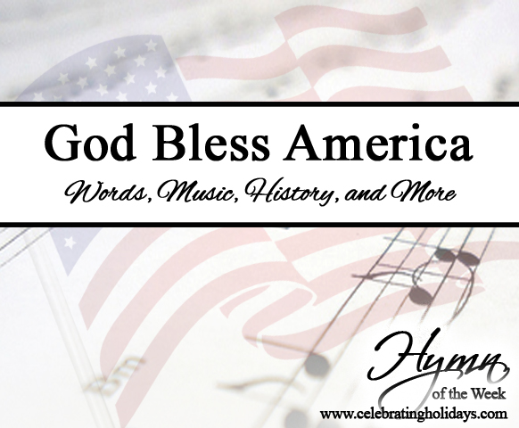 photo regarding Free Printable God Bless America Sheet Music referred to as God Bless The us Celebrating Holiday seasons