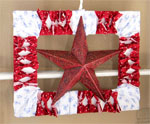 Patriotic Star Frame for Door