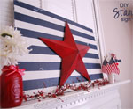 DIY Star and Stripes Sign