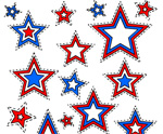 July 4th Free Printable Star Tags
