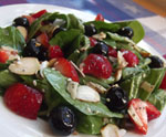 Spinach and Berry Salad for July 4th