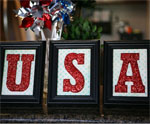 USA Framed Letter Art