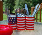 DIY Tin Can Utensil Holder for July 4th