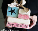 DIY Wooden Block Flag Decoration