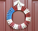 Clothespin Wreath 1 for July 4th