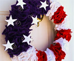 Felt Wreath for July 4th