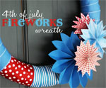 DIY Fireworks Wreath for July 4th