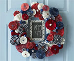 Paper Star Wreath for July 4th
