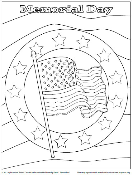Memorial Day Coloring Page 2