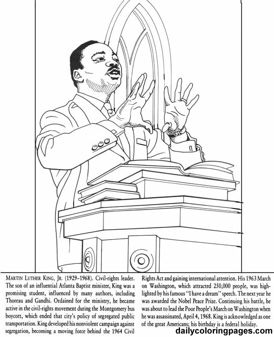 martin luther jr coloring pages - photo#16