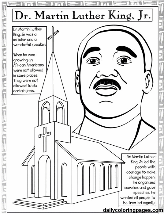 Martin Luther King, Jr. Coloring Page 2