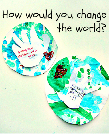 How Would You Change the World Craft for Martin Luther King, Jr. Day