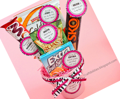 Candy Bouquet (Free Printables)