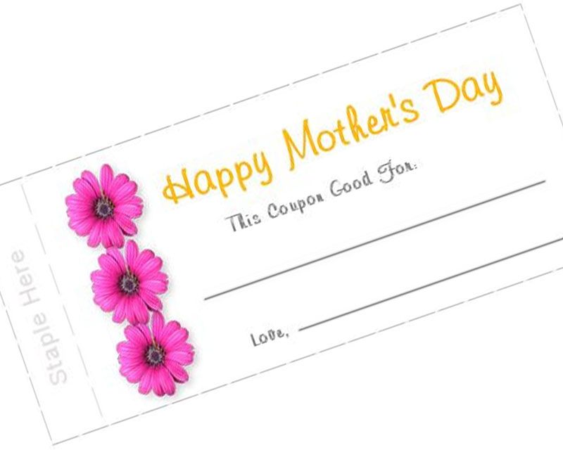 Free Printable Coupon Book for Mother's Day