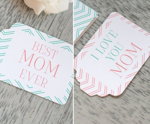 Free Printable Gift Tags for Mother's Day