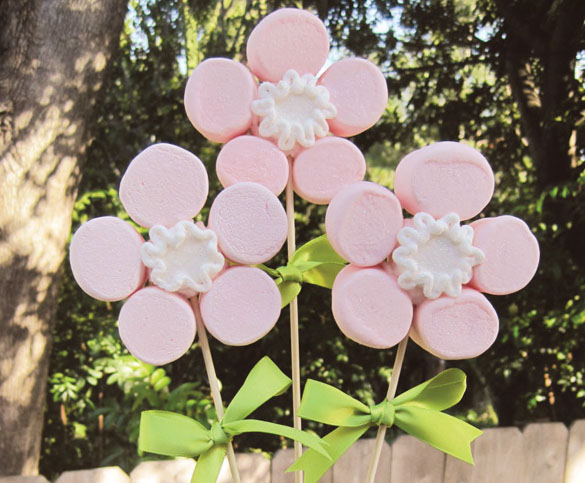 Marshmallow Flowers for Mother's Day
