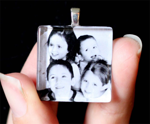 Photo Pendant Necklace for Mother's Day